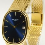 Patek Philippe Ellipse 18k Yellow Gold Automatic Mens Watch  Box