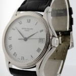 Patek Philippe 5117 Calatrava 18k White Gold Mens Watch BoxPapers
