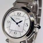Cartier Pasha 42mm 18k White Gold Automatic Mens Bracelet