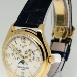 Patek Philippe Annual Calendar Moon 18K Yellow Gold Mens Watch Bo