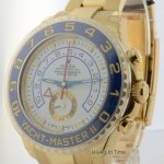 Rolex Yachtmaster II 18k Gold Ceramic Auto Mens Watch Bo