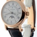 Patek Philippe Mens Perpetual Calendar 18k Rose Gold 5059 Box  Pa