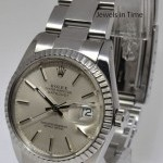 Rolex Datejust Steel Mens Watch Engine Turned Bezel Oyst