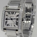 Cartier Tank Francaise 18k White Gold  Diamond Automatic W
