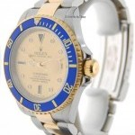 Rolex Mens Submariner 18K Gold Steel Mens Wrist Watch Se
