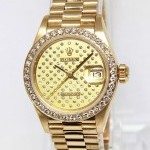 Rolex Ladies Datejust 18k Yellow Gold Diamond Automatic