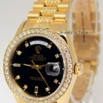 Rolex Day Date President 18k Yellow Gold  Diamonds Mens