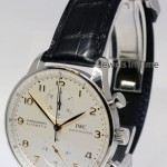 IWC 3714 Portuguese Chronograph Steel Watch  Deployant