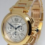 Cartier Pasha Mens Chronograph 42mm 18k Gold Automatic Wat