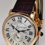 Cartier Rotonde Retrograde Time Zone18k Rose Gold Watch Bo