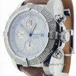 Breitling Mens Super Avenger Chronograph Automatic Steel  Di