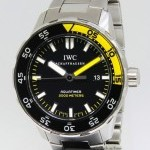 IWC Aquatimer Stainless Steel Black Dial Automatic Men