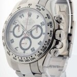 Rolex Mens Daytona 18k White Gold Chronograph Watch Box