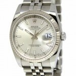 Rolex Datejust Stainless Steel Silver Dial Automatic Men