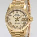 Rolex Datejust President 18k Yellow Gold Cream Roman Dia