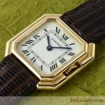 Cartier 18 ct gold manual winding Kal71-1 ETA 7512-1