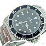 Rolex Mens  Submariner Stainless Steel Watch w Black Dia