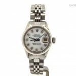 Rolex Ladies  Datejust Stainless Steel Watch wWhite MOP