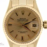 Rolex Vintage Ladies  18k Yellow Gold Datejust Watch Cha