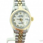 Rolex Ladies  Datejust Date 2tone 18K GoldSS Watch wWhit