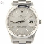 Rolex Mens  Stainless Steel Date Watch wSilver Dial 1500