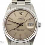 Rolex Mens  Date Stainless Steel Watch wSilver Dial 1520
