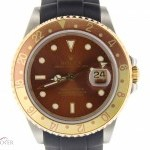 Rolex Mens  2tone 18k GoldSS GMT-Master II ROOT BEER Rub