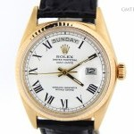 Rolex Mens Solid 18k Gold Day-Date President Watch wWhit