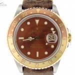 Rolex Mens  2tone 18k GoldSS GMT-Master II ROOT BEER Lea