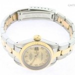 Rolex Ladies  Datejust 2tone 18k GoldSS Watch wGold Roma