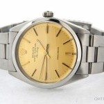 Rolex Mens  Stainless Steel Air-King Watch wChampagne St