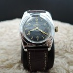 Rolex Bubbleback 2940 With Black Gilt Arabic Dial