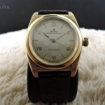 Rolex Bubbleback 3372 18k Yellow Gold With Raised Roman