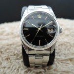 Rolex Oyster Date 6694 Original Black Dial With Gold Mar