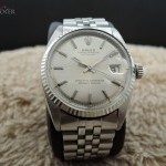 Rolex Datejust 1601 Ss Original Silver Dial With Folded