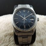 Rolex Oyster Date 6694 Original Glossy Blue Dial With Oy