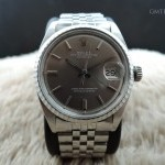 Rolex Datejust 1603 Ss Original Light Grey Dial With Fol