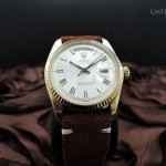 Rolex Day-date 1803 18k Gold With Original Silver Buckle