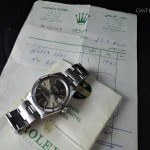 Rolex Oyster Date 1501 With Original Brown Dial And Pape