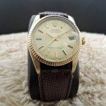 Rolex Datejust 6827 Boy Size 18k Yellow Gold Original Go