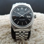 Rolex Datejust 1603 Stainless Steel Original Matt Black