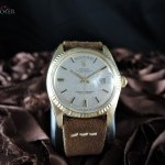 Rolex Day-date 1803 18k Gold With Original Silver Linen