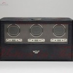 Anonimo Wolf Blake Triple Winder with Storage in Black Tej