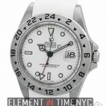 Rolex Stainless Steel White Dial On RubberB F Serial