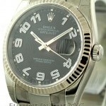 Rolex Stainless Steel Black Dial 36mm