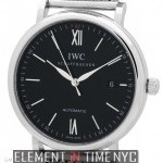 IWC Portofino Date 40mm Stainless Steel Black Dial