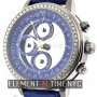 Quinting Chronograph Blue Dial Factory Diamond Bezel