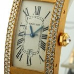 Cartier Tank Americaine 18k YG Diamond Case Midsize 23mm