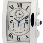 Cartier Tank Americaine Chronoflex 18k White Gold 27mm