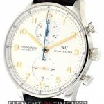 IWC Chronograph Stainless Steel Silver Arabic Dial
